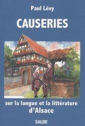 Causeries sur la langue et la littérature d'Alsace