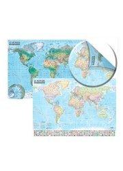 La couverture et les autres extraits de Carte du monde : politique et physique. Carte murale 1/21 500 000, double face, laminée avec barres 138 x 98 cm