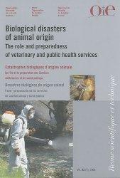 Catastrophes biologiques d'origine animale Rôle et préparation des services vétérinaires et de santé publique