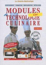 CD Modules techno culinaire 2 - prof