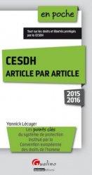 CESDH article par article. Edition 2015-2016