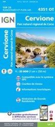 La couverture et les autres extraits de Monte Renoso, Bastelica, PNR de Corse. 1/25 000