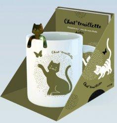 Chat'touillette. Coffret livre + mug + touillette