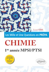 Chimie  1re année MPSI-PTSI