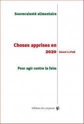 Choses apprises en 2020 - Souveraineté alimentaire. Pour agir contre la faim