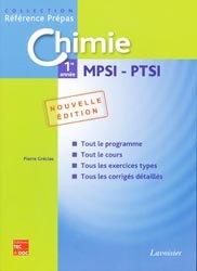 Chimie 1ère année MPSI PTSI