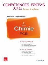 La couverture et les autres extraits de Chimie 1ère année MPSI PTSI