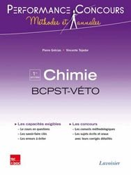 Chimie BCPST - Véto 1ère année