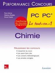 La couverture et les autres extraits de Chimie  MP* MP - PT* PT 2ème année