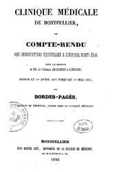 Cinique médicale de Montpellier, Compte rendu des observations recueillies à l'hôpital Saint-Éloi