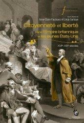 Citoyenneté et liberté dans l'Empire britannique et les jeunes Etats-Unis