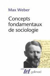 Concepts fondamentaux de la sociologie
