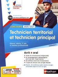 Concours technicien territorial et technicien principal. Edition 2019