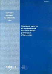 Concours externe de recrutement des conseillers principaux d'éducation