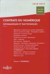 Contrats numériques. Informatiques et électroniques, Edition 2018-2019
