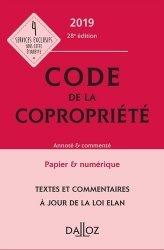Code de la copropriété. Annoté & commenté, Edition 2019