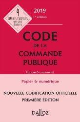 La couverture et les autres extraits de Code de la commande publique commente 2018