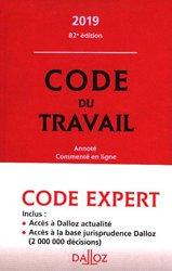 La couverture et les autres extraits de Code du travail luxembourgeois annoté. Edition 2020