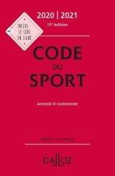Code du sport. Annoté & commenté, Edition 2020