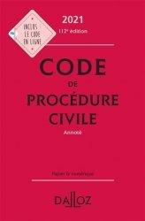 Code de procédure civile. Edition 2021