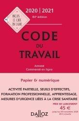 La couverture et les autres extraits de Code du travail. Edition 2018
