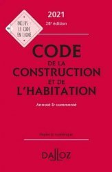 Code de la construction et de l'habitation 2021