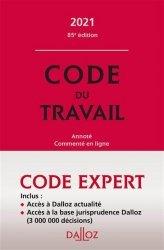 La couverture et les autres extraits de Le code du travail annoté. Edition 2020