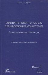 Contrat et droit OHADA des procédures collectives