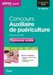 La couverture et les autres extraits de Tests d'aptitude auxiliaire de puériculture