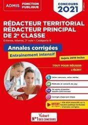 Concours Rédacteur territorial et Rédacteur principal 2e classe - Catégorie B - Annales corrigées