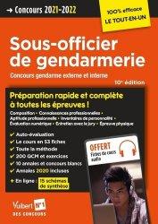Concours Sous-officier de gendarmerie - Préparation rapide et complète à toutes les épreuves - Annales 2020