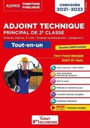 Concours Adjoint technique principal de 2e classe - Catégorie C - Tout-en-un - Annales 2020 incluses