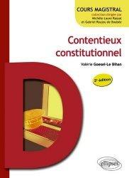 Contentieux constitutionnel. 2e édition