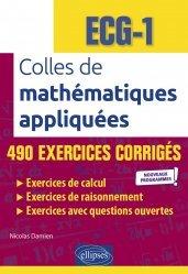 A paraitre dans Mathématiques-Université-Examens, Colles de mathématiques appliquées - ECG-1
