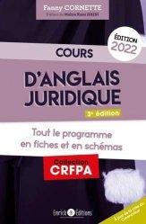 Cours d'anglais juridique 2022