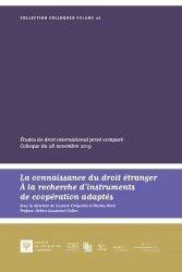 Connaissance du droit étranger. Recherche d'instruments de coopération adaptés