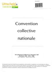 Convention collective nationale Pharmacie 2016 + Grille de Salaire