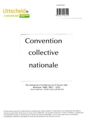 Convention collective nationale Architecte 2016 + Grille de Salaire