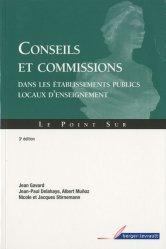 Conseils et commissions dans les établissements publics locaux d'enseignement