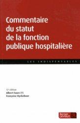 Commentaire du statut de la fonction publique hospitalière