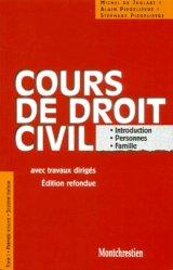 Cours de droit civil avec travaux dirigés. Tome 1, Premier volume, Introduction, Personnes, Famille, 16ème édition