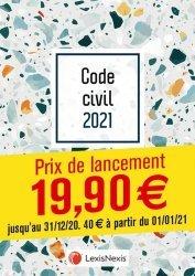 Code civil. Jaquette 3, Edition 2021