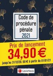 Code de procédure pénale. Jaquette, Edition 2021