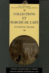 Collections et marché de l'art. En France 1789-1848
