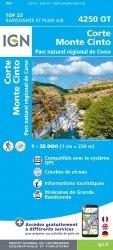 La couverture et les autres extraits de Monte Renoso, Bastelica. 1/25 000