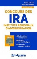 La couverture et les autres extraits de Concours des IRA. Edition revue et augmentée
