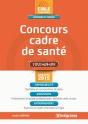 La couverture et les autres extraits de Concours cadre de santé 2017