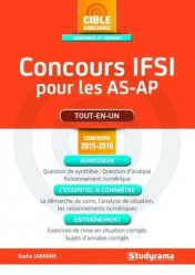 La couverture et les autres extraits de Concours Infirmier pour les AS-AP - Entrée en IFSI - Examen d'admission - Entraînement