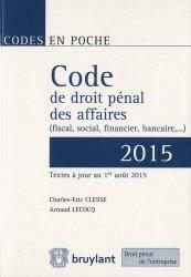 La couverture et les autres extraits de Code de droit de l'entreprise 2014. Sanctions pénales et administratives, 2e édition