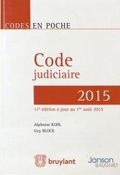 La couverture et les autres extraits de Code judiciaire. Edition 2017